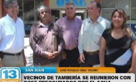 Jachalleros reclamaron por boro en el agua de Tamberías