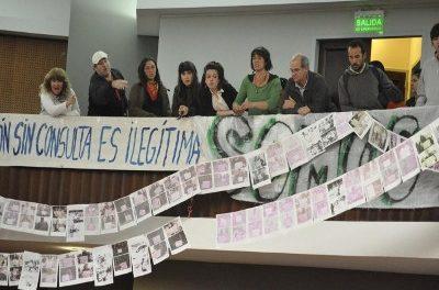 Radicales de Esquel también piden derogar la ley de zonificación minera y aprobar la Iniciativa Popular