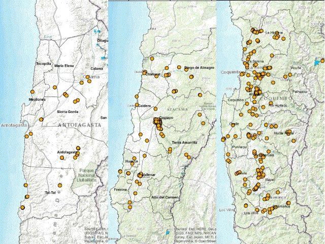 Catastro de los relaves mineros del norte de Chile