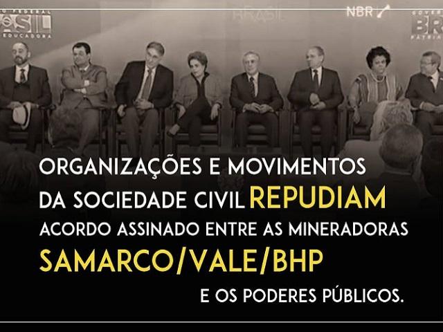 ONG´s y movimientos sociales de Brasil repudian acuerdo entre empresa minera y gobierno