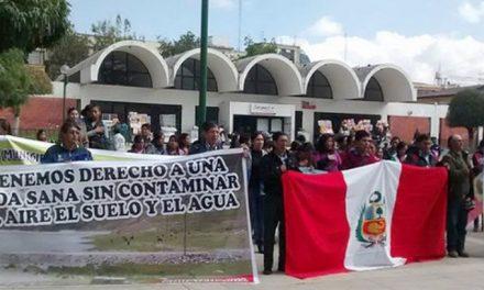 Huancayo: pobladores protestan contra minera Volcan