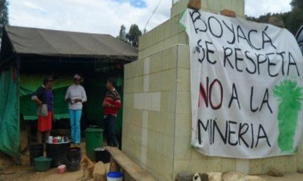 Nueve meses de campamento de resistencia frente a la minería en Tasco
