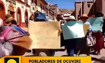 Pobladores de Ocuviri se movilizaron contra minera Aruntani por contaminación