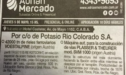 ¿Vale comenzó a desmantelar Potasio Río Colorado?