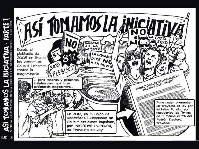 """""""Así tomamos la iniciativa"""", un cómic para prohibir la megaminería en Chubut"""