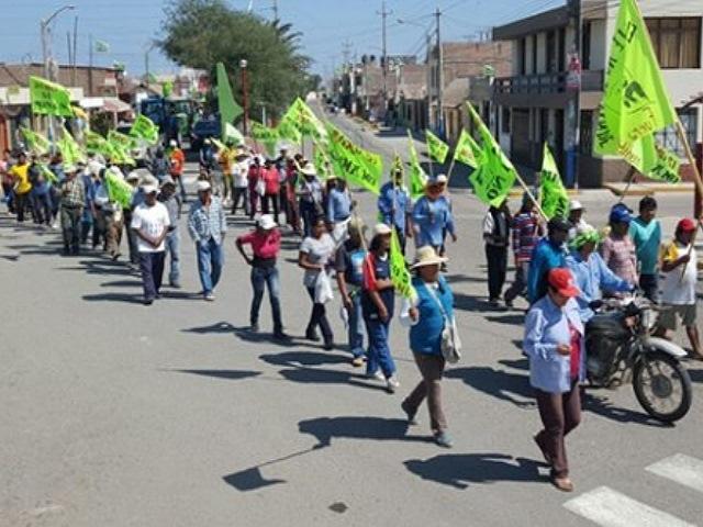 Población del valle de Tambo marcha contra proyecto minero Tía María