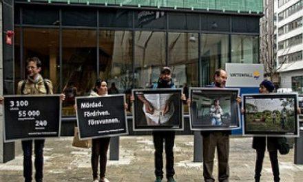 Llega a Suecia la protesta minería del carbón en Colombia
