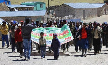 Comunidades campesinas acatan paro contra minera Ares por la contaminación