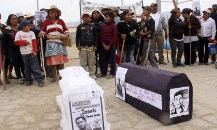 Toma simbólica de minera en San José del Progreso exigiendo la salida de empresa canadiense