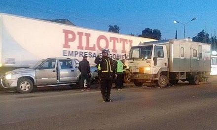 Un camión que transportaba pastillas radioactivas chocó en Ruta 3