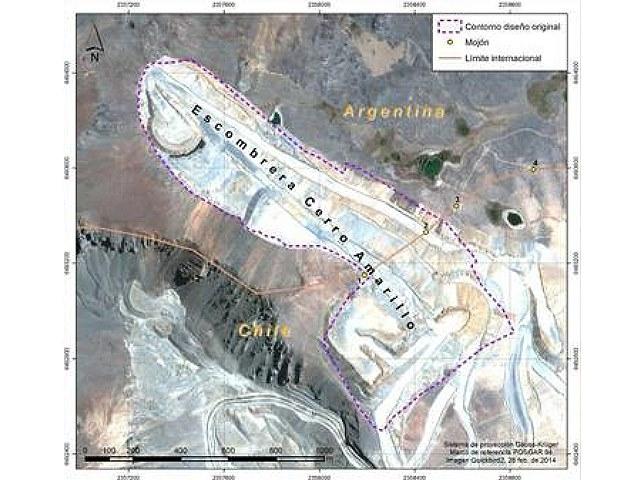 Sigue en su lugar el megabasurero de residuos mineros de una empresa chilena en suelo argentino