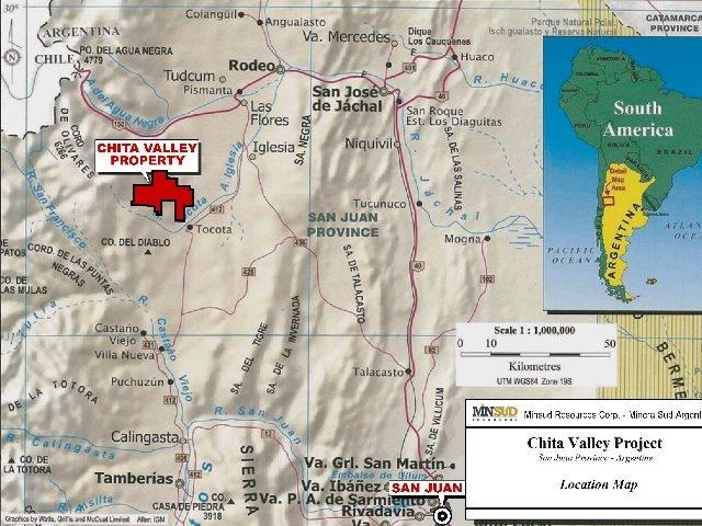 Minsud, la minera de Benetton, hace la topografía del yacimiento Chita con drones