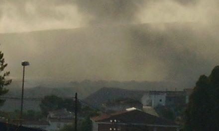 Polvo de la mina de Riotinto en suspensión en el aire de Nerva