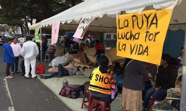 Pese a suspensión, sigue pelea de la comunidad por mina en La Puya