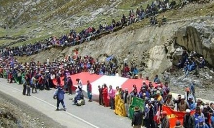 Tensión por paro de comunidades Chaná y Pontó contra minera Antamina