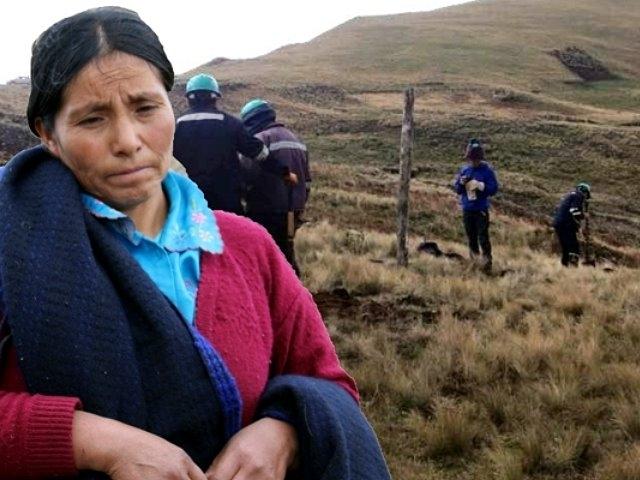 Minera Yanacocha irrumpe en el terreno de Máxima Acuña y destruye sus cultivos