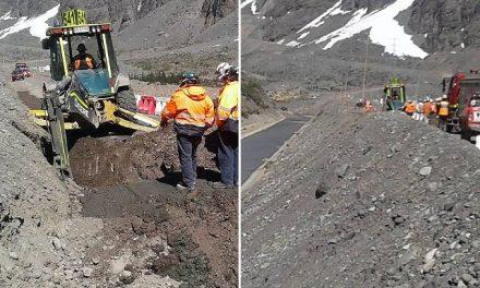 Operativo en Los Andes por nuevo derrame de cobre de Codelco en el río Blanco