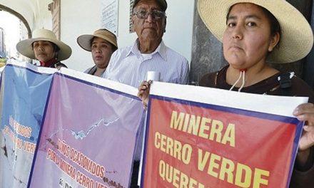 Pobladores de Uchumayo protestan por daños de minera Cerro Verde