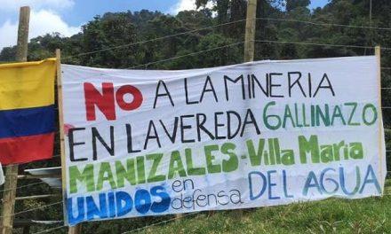 Marcharon en Manizales y Villamaría en defensa del agua ante proyecto minero