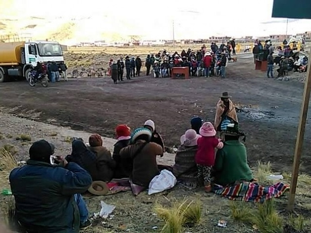 Inician paralización contra minera Hudbay exigiendo cumplimiento de acuerdos