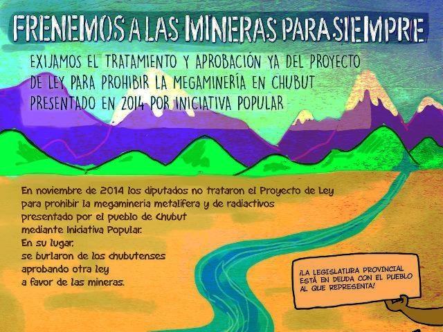 Cuatro concejos deliberantes de Chubut piden el tratamiento y aprobación de la Iniciativa Popular para prohibir la megaminería