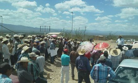 Protestan comuneros por contaminación de minera Gold Corp en Zacatecas