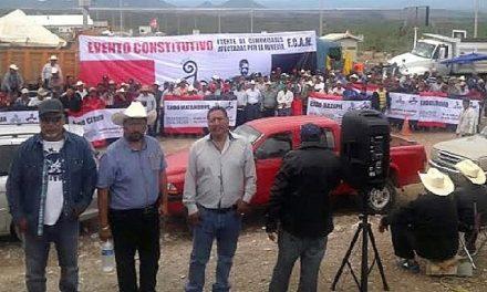 Crean Frente de Comunidades Afectadas por la Minería en Zacatecas