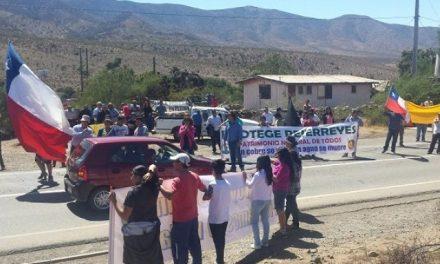Por tercera vez en el año vecinos de Pejerreyes protestaron contra planta minera china
