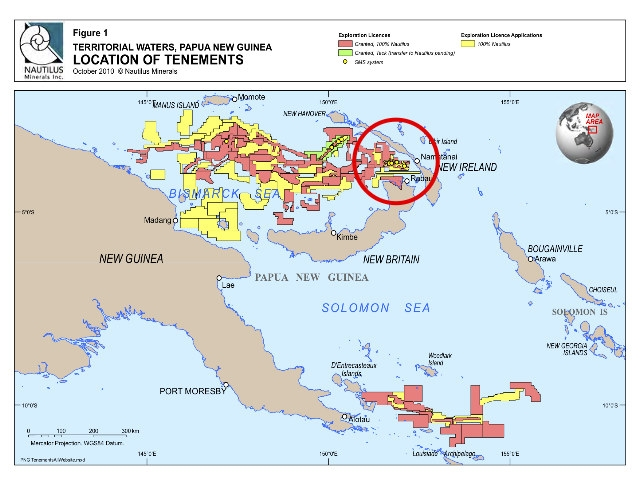 La primera megamina submarina se proyecta en Papúa Nueva Guinea