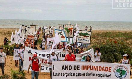 Afectados de la tragedia tóxica minera en Brasil inician marcha denunciando la impunidad