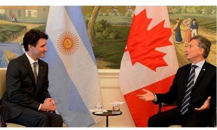Mauricio Macri y Justin Trudeau acordaron cooperación en comercio, minería y refugiados