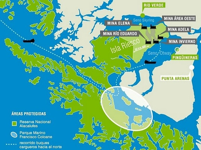 Mina de carbón amenaza paraíso ecológico en Patagonia chilena