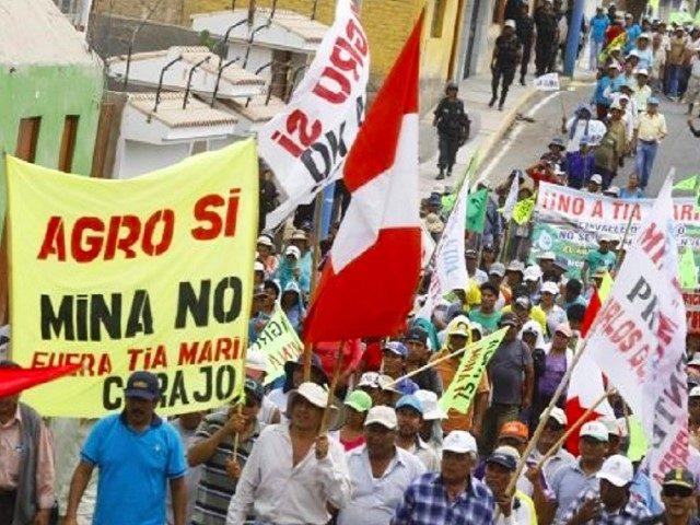En Perú 40 empresas mineras generan 78 conflictos sociales