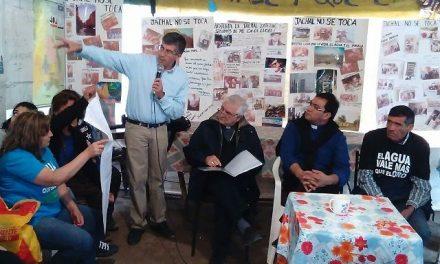 El arzobispo Lozano estuvo en Jáchal para interiorizarse sobre el conflicto minero