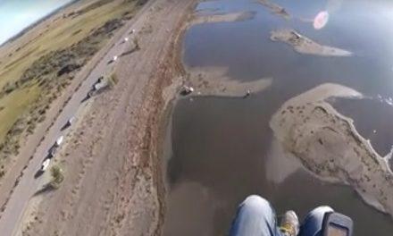 """Vuelo sobre el Lago Musters: """"se está secando y lo estamos viendo"""""""