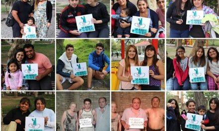#Yo abrazo al Musters: la campaña de los vecinos por el agua que se llevan