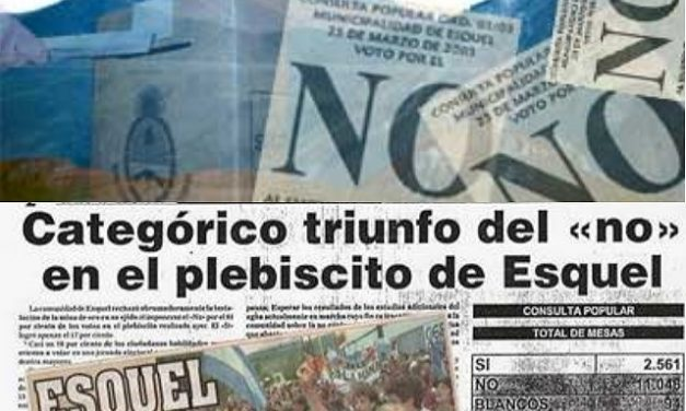 Los vecinos de Esquel festejarán el 14vo. aniversario del triunfo del NO A LA MINA