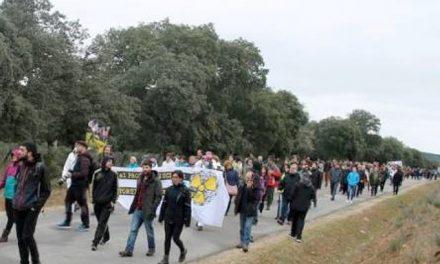 Cientos de personas protestaron contra la tala de encinas en mina de uranio de Retortillo