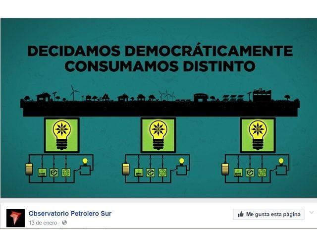 Decidamos democráticamente, consumamos distinto, produzcamos una nueva energía