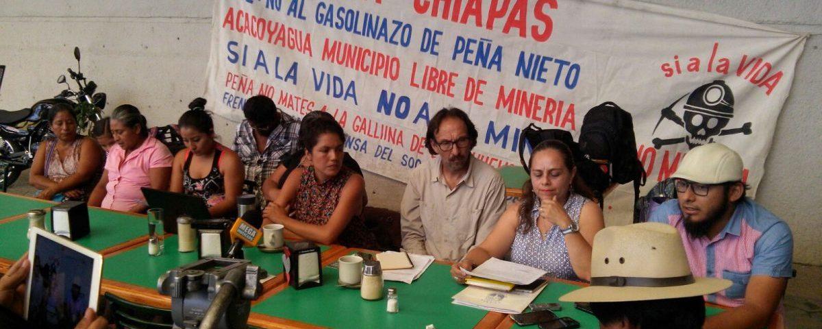 """Activistas denuncian """"contubernio"""" entre gobierno de Chiapas y mineras"""