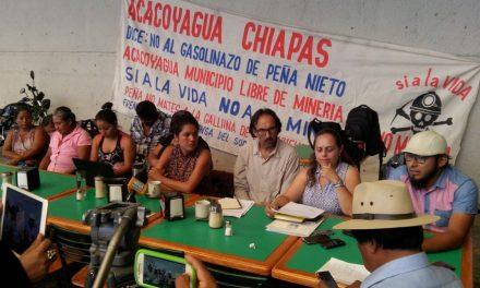 Prohibimos la minería en los núcleos agrarios de Acacoyagua y exigimos que se respete nuestra decisión