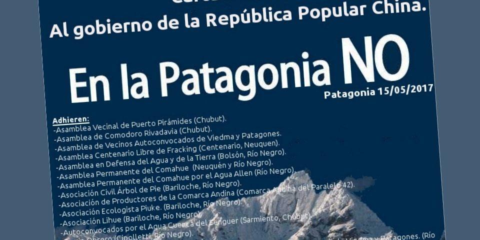 Organizaciones sociales ygobernador de Chubut se oponen a la central nuclear china