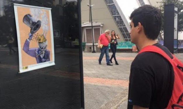 Caricaturistas pintan contra la minería en Quindío