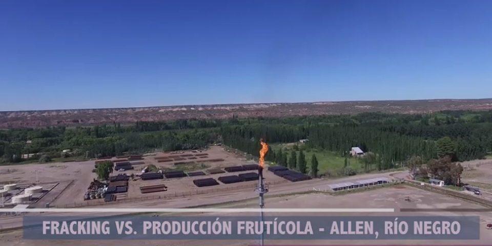Fracking vs. producción frutícola en Allen