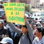 Responsabilizan a minera Southern Copper de trasvase de agua hacia Tacna