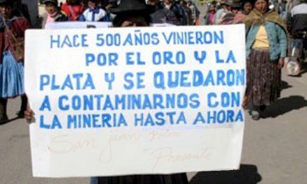 Pobladores de Nuñoa se niegan a la explotación minera en la zona