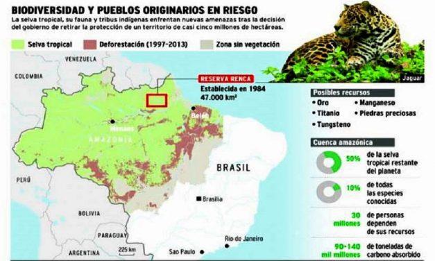 Brasil permite explotación minera en vasta reserva de la Amazonia