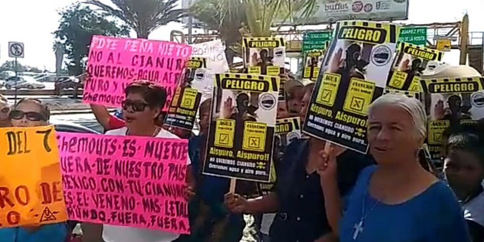 Pobladores manifestaron contra la instalación de la planta de cianuro