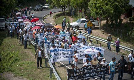 Movilización contra minera Condor Gold en Nicaragua