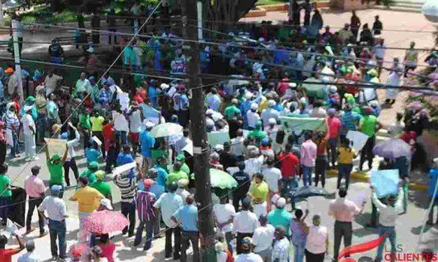Sanjuaneros marcharon en contra de la explotación minera